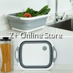 Large Thickened Extendable Collapse Chopping Board Kitchen Silicon Wash Rice Vegetables Fruits Ingredients Basket