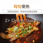Wrought Iron Pan Shiny Non Stick Coating Thickened Frying Pan Heat Conduction Flat Bottom Fast Heating