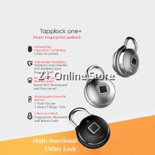 Tapplock ONE+ (One Plus) Safety Pad Lock Stainless Steel Door Bag Battery Smart Fingerprint Bluetooth Morse Code History Track Water Weather Proof