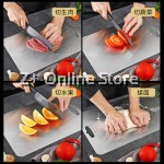 Food Grade Stainless Steel SUS304 Easy Cleaning Dual Side Anti Bacterial Ingredient Fruit Meat Cutting Chopping Board