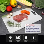 Food Grade Stainless Steel SUS304 Easy Cleaning Dual Side Anti Bacterial Fruit Meat Cutting Board Chopping Board