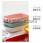 23cm Nordic Style Ceramic Baking Tray Bowl Rectangular Cheese Risotto Dish Double Handle Baking Bowl Microwave Oven