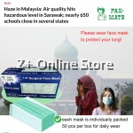 Pan-Mate 100pcs 3PL Disposable Haze Mask Kids Surgical Face Mask Hospital Clinical Use Sneeze Anti Pollution Dust Protection