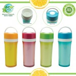 Eco-Friend 350ml Eco Mug Leak Proof Double Wall Food Grade PP Mug Vacuum Flask Daily Water Bottle