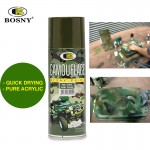 BOSNY Camouflage Spray Paint Pattern Trucks Fast Dry Wood Metal 400cc