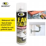 BOSNY Leak Sealer Spray Seal Water Proof Home Care Roof Gutters 600CC