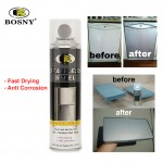 BOSNY Stainless Steel Spray Paint Fast Drying Anti Corrosion House Care Refrigerator 200CC