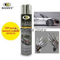 BOSNY Mirror Chrome Spray Paint Long Lasting House Object House Elastic Fast Drying 270CC