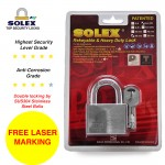 [FREE LASER MARKING] SOLEX G5 40/45/50/55mm Resistant House Door Lock Safe Key Security Office Chromium Padlock