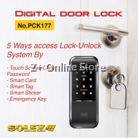 Solex PCK177 ISO 9001 Smart Card Touch Screen Digital Door Lock Security Alarm System Dual Key Safety Button