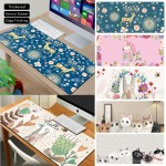 Fairy Tales Wonderland Large Gaming Thickened Desktop Keyboard Mouse Pad Table Mat Unicorn Flamingo Elk Cat Rabbit