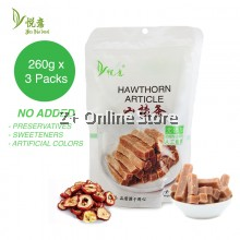 山楂条 Hawthorn Article Snack Digestive Anti Aging Immune System Dried Food Natural Health 260g x 3