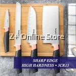Z PLUS Bayco Stainless Steel Kitchen Knife Set of 4 Cutter Scissor House Warming Gift Set (Rose Gold)
