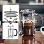 350ml Double Wall French Press Coffee Maker Stainless Steel SUS304 Filter Coffee Pot Glass Coffee Tea Maker Pot with Infusion Coffee Brewer