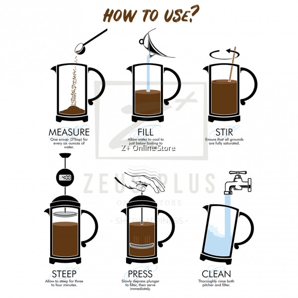 French Press Coffee Maker Stainless Steel SUS304 Filter Coffee Pot Glass Coffee Tea Maker Pot with Infusion Coffee Brewer 350ml/ 600ml/800ml/1000ml