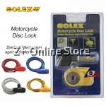 SOLEX Motorbike Motorcycle Brake Security Against Skeleton Safe Lock Anti Rust Anti Yanking 3 Keys
