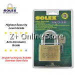 SOLEX Padlock Mach II 30/35/40/50/60MM Security Anti Cut Stainless Steel Anti Corrosion Brass