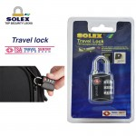 SOLEX Luggage Lock Travel Security Safe Light Weight Durable Passcodes System TSA