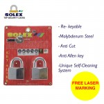 [FREE LASER MARKING] SOLEX Padlock Safety Security Lock G5 40/45/50/55MM 2 Key Alike System-CR