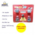[FREE LASER MARKING] SOLEX Padlock Safety Security Lock G5 40/45/50/55MM 4 Key Alike System-CR
