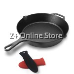 30cm Pre-Seasoned Large Cast Iron Skillet 12 inch with Assist Handle Pure Iron Cast Frying Pan Oven Safe Kitchen Cookware