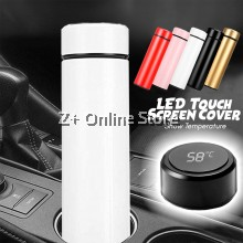 ZPLUS Smart LED Temperature Display Touch Screen 304 Stainless Steel 500ml Vacuum Flask Thermos Bottle Mug Cup Intelligent Portable Car