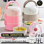 Z PLUS 3 Tiers Electric Lunch Box Rice Cooker Electric Steamer Food Grade Stainless Steel with Free Gift