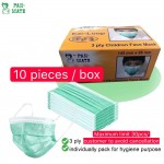 Pan-Mate 10pcs 3ply Surgical Mask Disposable Tie On Mask Face Mask Hospital Clinic Sneeze Anti Pollution Dust Protection