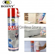 BOSNY Polyurethane Foam Multipurpose Foam Fix Wall Crack Joint Gap Seal Sealant 500ml [ONLY FOR WEST MALAYSIA]