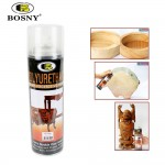 [12 Cans] BOSNY Polyurethane Protective Spray Extra Durable Clear Protective Finish Wood Furniture Protect 600ml