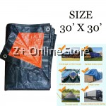 (30' x 30') JUMBO PE Tarpaulin Sheet Canvas Waterproof Ready Made Cover Lorry Gardens Use