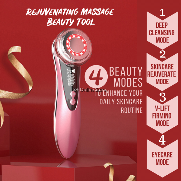 3rd Gen Facial Massager Beauty Tool Home Kit Facial Skin Care Device Reduce Pores Refine Lines Remove Make Up Winkle Anti Age V-Lift Firming Face Lifting Enhance Skin Care Routine Serum Face Mask Nutrition Absorption Eliminate Acne Dullness Deep Cleansing