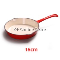 Enameled Cast Iron Frying Pan Non Stick French Casserole Enamel Cast Iron Skillet Barbecue Pan Baking Kitchenware Cooking Pan