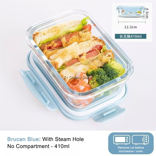 Rectangle Microwave Safe Glass Container Glass Food Storage Glass Lunch Box Airtight Glassware Glasslock