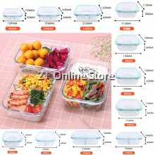Rectangular Microwave Heat Resistant Borosilicate Glass Container Food Storage Lunch Box  Anti Leak Tupperware Glasslock