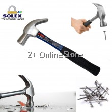 SOLEX Fibreglass Claw Hammer Heavy Duty Wood Construction DIY Hand Tool Tukul Besi