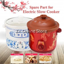 [Spare Part] Purple Sand Clay White Ceramic Electric Slow Cooker Pot 1.5L/2.5L/3.5L/4.5L/6L Replacement Spare Part Inner Pot Cover Lid