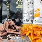 GiGi Crunch Homemade Chips 220g Crispy Cheese or Chocolate Snacks Kerepek Wonder Cheese