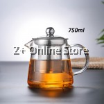 750ml High Quality Glass Tea Pot Stainless Steel Infusion Filter Flower Teapot Herbal Tea Leaf Coffee Pot