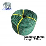 JUMBO 16MM GREEN PE ROPE - 220 METERS LENGTH (25.30KG) Tali Polyethylene Household (1 UNIT PER ORDER.)