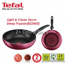 Tefal Light & Clean 26cm Non Stick Deep Frypan Frying Pan Pot Cookware Premium Quality Kitchenware B22405