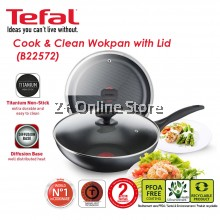 Tefal Cook & Clean 28cm Non Stick Wokpan with Glass Lid Cookware Premium Quality Kitchenware B22572