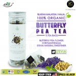 [Halal] Era Herbal Golden Tulip Butterfly Pea Flower Tea Bag 15's 蝴蝶豌豆花茶 For Lady Ease Menopause & Diabetic Rawat Haid Tak Tentu & Diabetes