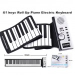 61 Keys Portable Roll Up Piano Electric Keyboard Silicon Keyboard Multi Function Musical Instrument With Built-In Large Speaker