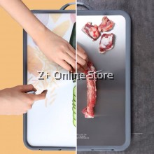 Double Sided SUS304 Stainless Steel Chopping Board Standable Antibacterial Dual Side Cutting Board