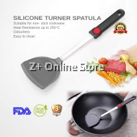 High Temperature Silicone Shovel Non Stick Spatula Heat Resistant Silent Turner Fry Pan Stainless Steel Turner Kitchen Utensil