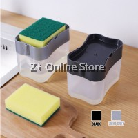 Soap Dispenser With Sponge Holder Kitchen Manual Press Liquid Dishwasher Pump Dispenser
