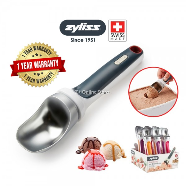 [From Swiss] Zyliss Right Scoop Ice Cream Scoop Dishwasher Safe Cookie Scoops Ice Cream Ball Shape Spoon Sorbet Scooper Desserts