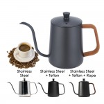 350ml/600ml Stainless Steel Grade 304 Long Narrow Spout Coffee Kettle Pour Over Coffee Pot Gooseneck Coffee Drip & Tea Pot Slow Drip Pot Hand Brew Coffee Maker
