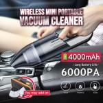 Z PLUS 6000PA Portable Car Vacuum Cleaner Wet Dry Dual Use Vacuum Wireless Cleaner Super Suction USB Cordless Car Cleaner